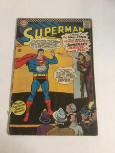 Superman 185 Gd- Good- 1.8 Cover Add Removed DC Comics Silver Age