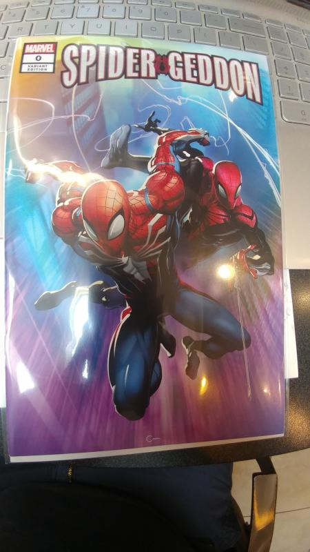 SPIDER-GEDDON #0 VARIANT NYCC EXCLUSIVE COVER Clayton Crain Cover