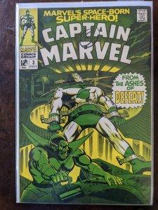 Captain Marvel #3 (1968) COVER ON MARKER. 8.0