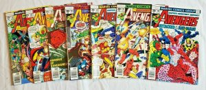 Avengers 1977 #161,162,163,164,165,166,167  LOT price on all 7  VF/NM