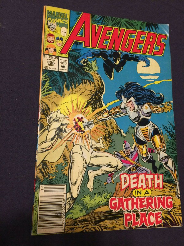 Avengers #356 (1992) VF Death in a Gathering Place Marvel Comics