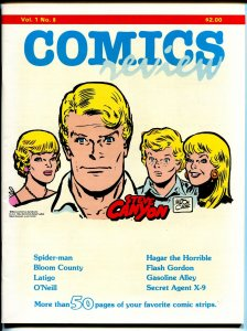 Comics Review #8 1984-Spider-man-Bloom County-Hagar-Steve Canyon-VF