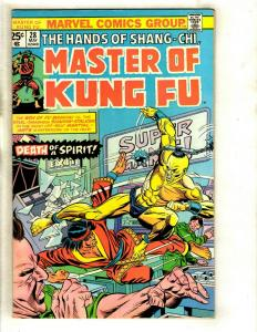 10 Master of Kung Fu Marvel Comics # 28 32 37 38 39 40 41 42 43 44  WS6