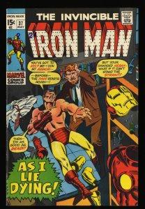 Iron Man #37 VF- 7.5 Marvel Comics