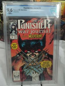 Punisher War Journal #6 (1989) - CBCS 9.6 - Awesome Wolverine Cover!