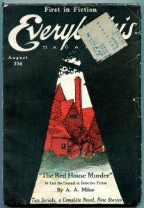 Everybody's Magazine August 1921- Red House Murder- Mary Roberts Rinehart