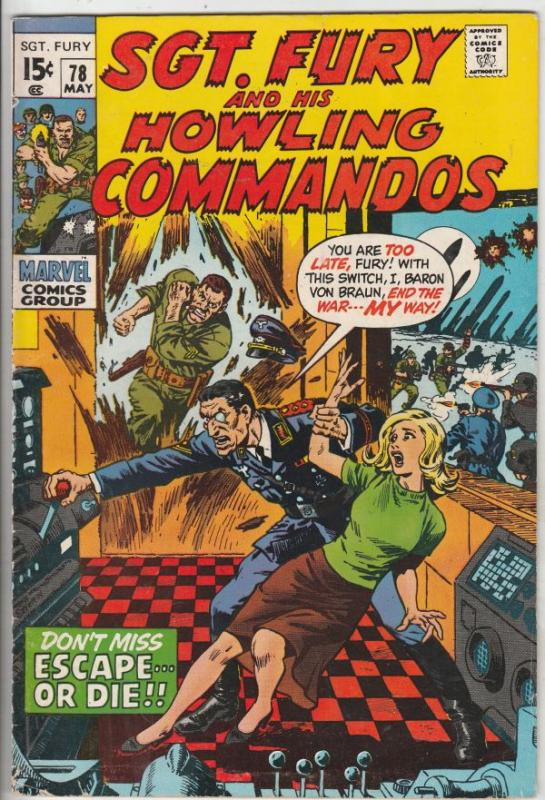 Sgt. Fury and His Howling Commandos #78 (May-70) FN/VF Mid-High-Grade Sgt. Fu...