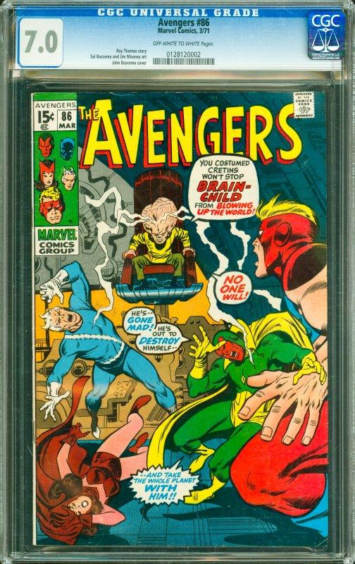 Avengers #86 CGC Graded 7.0
