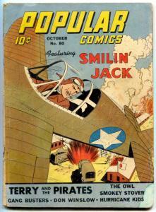 Popular Comics #80 1942- Smokey Stover- Owl- restored reading copy