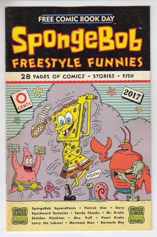 SPONGEBOB FREESTYLE FUNNIES (2017 UNITED PLANKTON PICTURES) #1  FCBD 2017