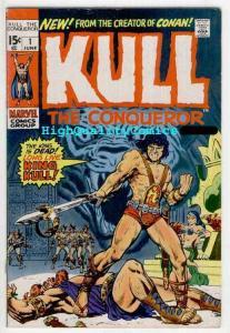 KULL the CONQUEROR #1, FN+, Robert E Howard, 1971, Warrior, King