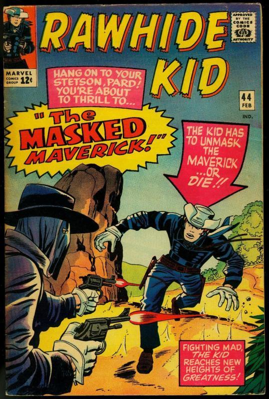 Rawhide Kid #44 1964- Masked Maverick- Marvel Western VG/FN