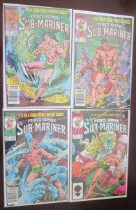 Sub Mariner comics set:#1-4 6.0 FN (1984)