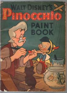 Pinocchio Paint Book #573-Whitman-Walt Disney-rare-P/FR