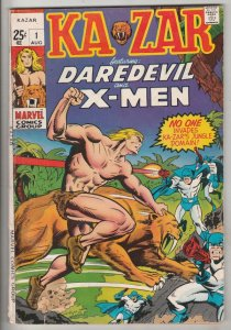 Ka-Zar Featuring Daredevil and the X-Men #1 (Aug-70) FN Mid-Grade Ka-Zar