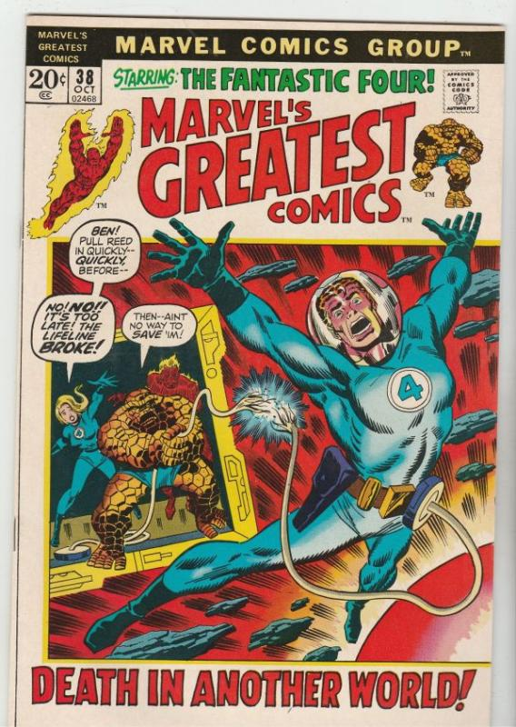 Marvel's Greatest Comics #38 (Oct-72) NM- High-Grade Fantastic Four, Mr. Fant...