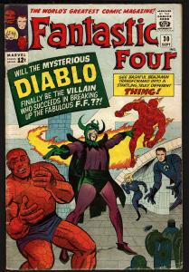 Fantastic Four #30 (Sep 1964, Marvel) 3.5 VG-