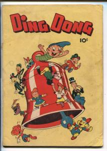 DING DONG #1 1946-ME--FIRST ISSUE-ROBOT COVER-good/vg