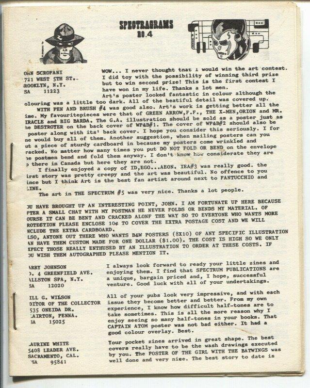 Spectragrams #4 1960's-mini-zine-comics info-buy & sell ads-VF-