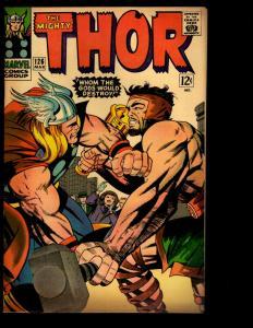 Mighty Thor # 126 FN Marvel Comic Book Ego Odin Loki Asgard Ulik Avengers NE3