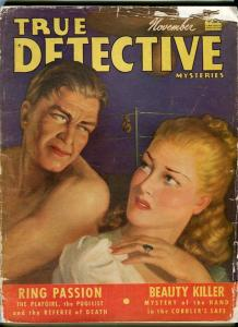 TRUE DETECTIVE-NOV/1940-PUGILIST-PLAYGIRLS-PINKERTONS-DIAMOND BUCANEERS FR