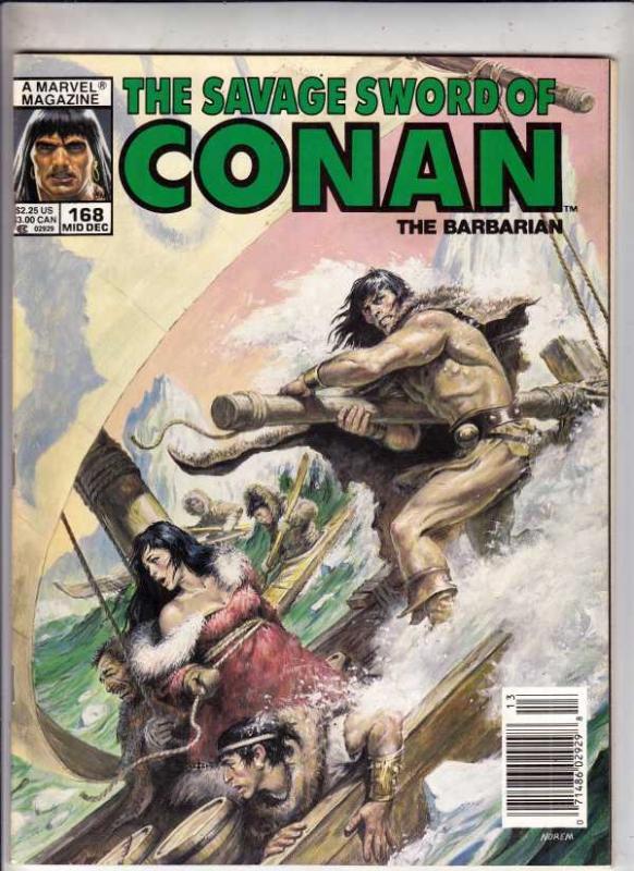 Savage Sword of Conan #168 (Dec-89) NM- High-Grade Conan