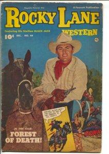 Rocky Lane Western #44-1952-Fawcett- B-Western movie star photo cover-VG