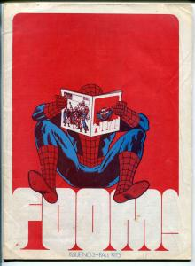 FOOM 1973-early Marvel Comics fanzine-Spider-man infinity cover-Bull Pen Pros-VG