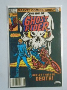 Ghost Rider #81 last issue 4.0 VG (1983 1st Series)