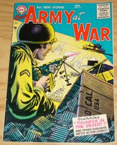 Our Army At War #44 FN- march 1956 - silver age dc comics thunder in the desert