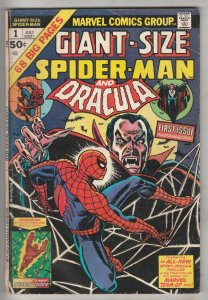 Giant-Size Spider-Man and Dracula #1 (Jul-74) VG/FN Mid-Grade Spider-Man