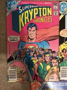 DC Superman Presents The Krypton Chronicles 1-3 Complete Set * 1981 * Newsstand