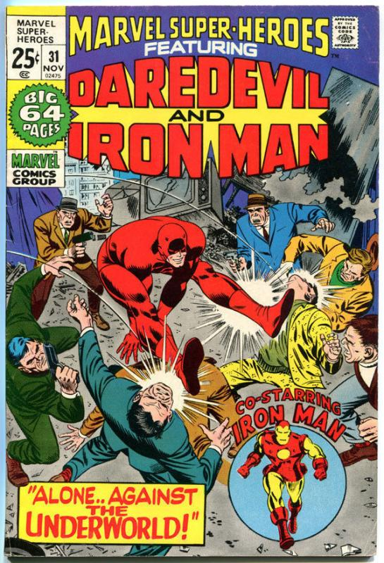 MARVEL SUPER-HEROES 31, VF-, Iron Man, Daredevil, Robot, 1968, more in store