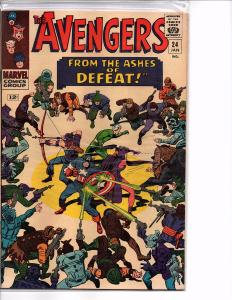 Marvel Comics The Avengers #24 FN Stan Lee Story Kang the Conquerer