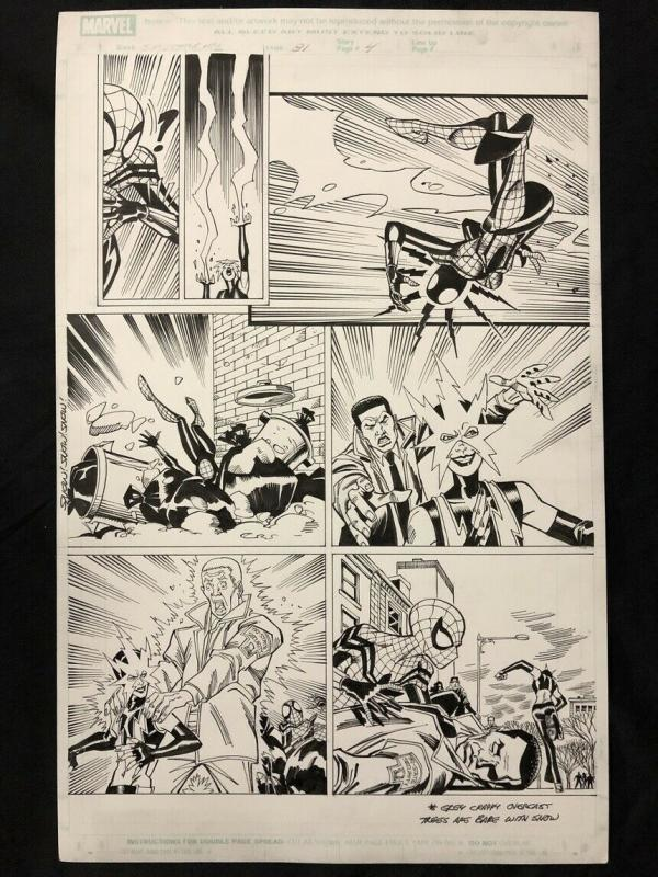 Spider-Girl #81 Page 4 Original Comic Art- Ron Frenz- Sal Buscema