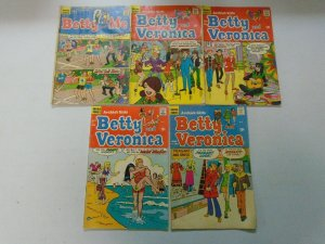 Silver age Archie Betty comic lot 5 different issues 4.0 VG