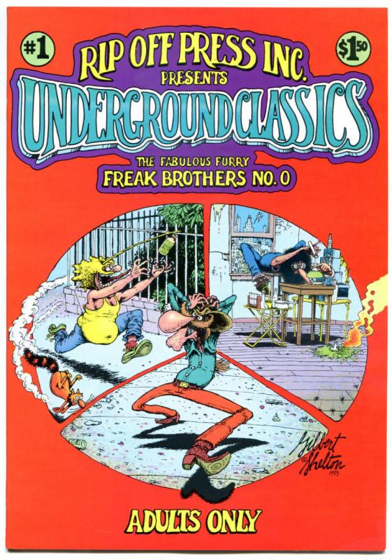 UNDERGROUND CLASSICS #1, VF/NM, Freak Brothers, Gilbert Shelton, 1985