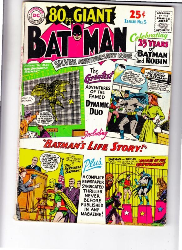 Eighty Page Giant #5 (Dec-64) VG Affordable-Grade Batman, Robin the Boy Wonder