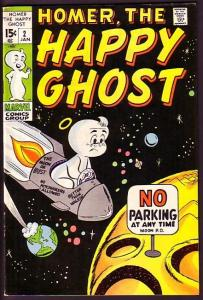 HOMER, THE HAPPY GHOST-#2-OUTERSPACE COVER VF