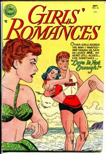Girls' Romances #16 1952-DC-spicy art-life guard swimsuit cover-VG