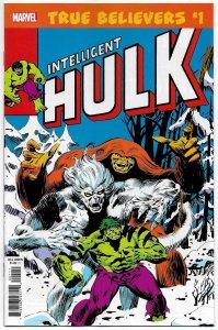 True Believers Intelligent Hulk #1 (Marvel, 2019) NM