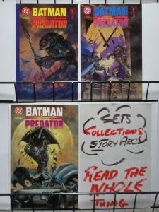 BATMAN VS PREDATOR  1(Predator cvr),2-3 Gibbons, Suydam