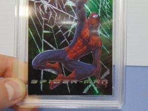 2002 Topps Spider-Man Movie Web Tech Foil Card #F4 - Graded Gem Mint 10