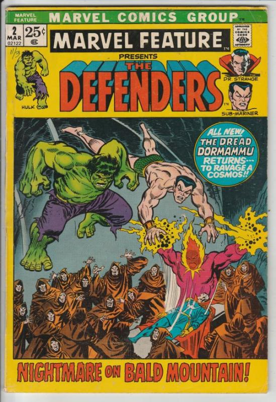 Marvel Feature presents Defenders, The #2 (Mar-72) VF+ High-Grade Dr.Strange,...