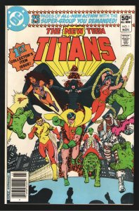 NEW TEEN TITANS 1 VF 8.0 1st appearances galore!