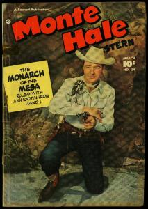 MONTE HALE WESTERN #34 1949 B-WESTERN OVIE PHOTO COVER  G