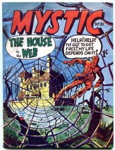 MYSTIC #31 1963 SPIDER WEB COVER BRITISH COMIC FN