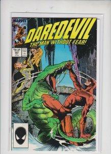] DAREDEVIL  # 207 1989 MARVEL /  UNREAD /  NM