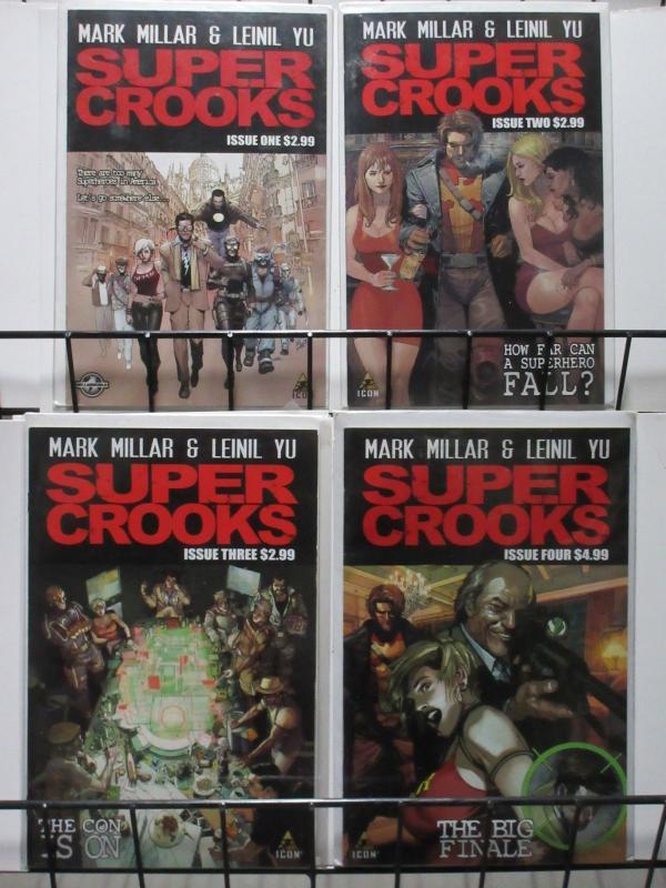 SUPER CROOKS(ICON, 2012) #1-4 COMPLETE! VF-NM Mark Millar & Leinil Yu
