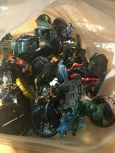Lot of 70 X-PLOSION and ULTIMATES Heroclix Dial Figures Ice Man Hawkeye MFT4